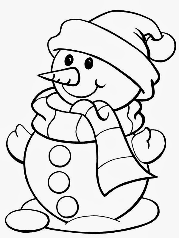 christmas coloring pages for kids printable - 5 free christmas printable coloring pages snowman tree
