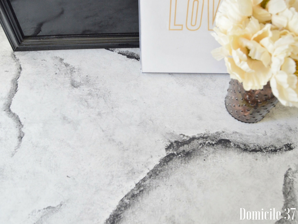 Create and share, Wise Owl Paint, Faux Marble Top, DIY Faux Marble Top Using chalk paint, domicile 37, Faux marble tutorial, white and black faux marble