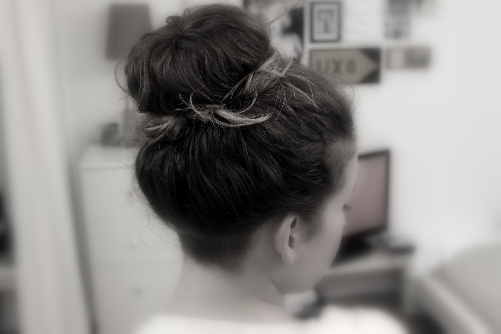 Frisur Haar Donut