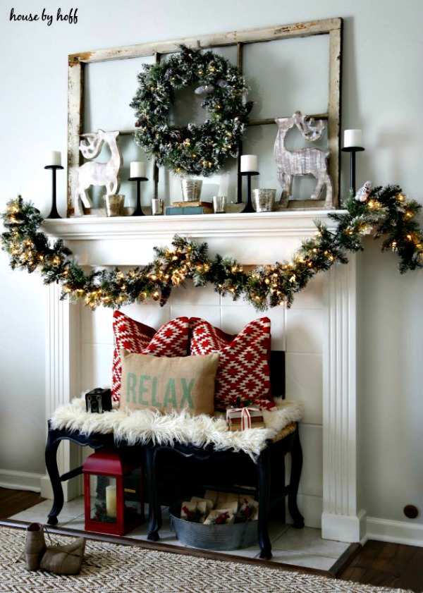 Christmas Mantel from House by Hoff