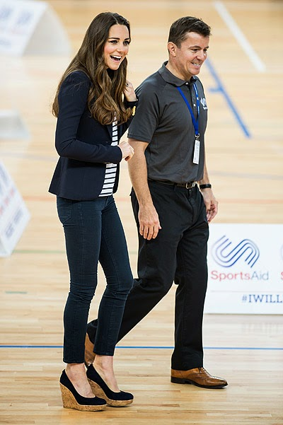 Duchess Catherine at the seminar Sportaid Athlete Workshop