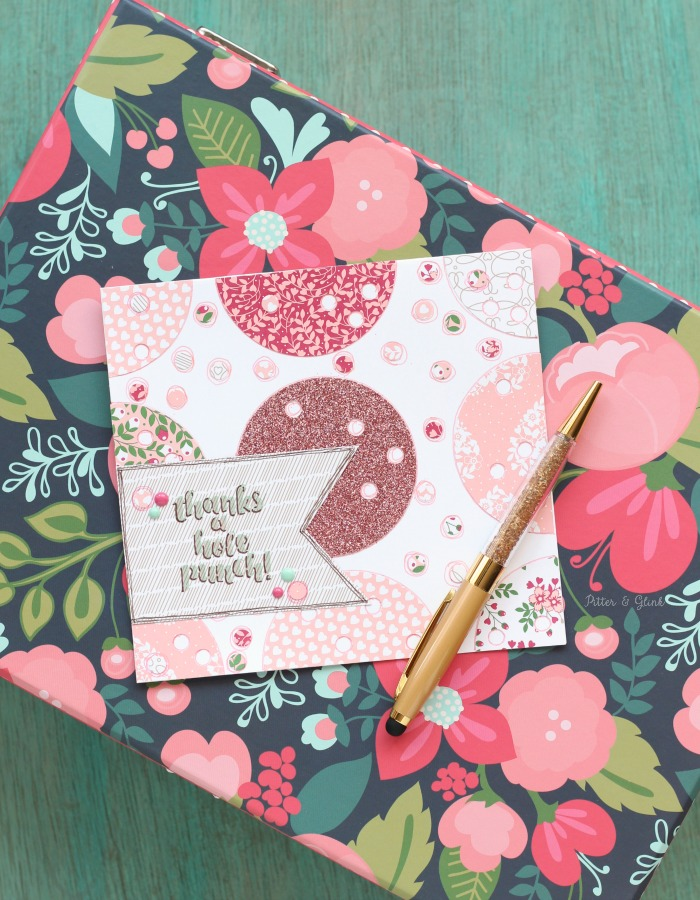 """Learn how to easily make a handmade """"Thanks a Hole Punch"""" Card   pitterandglink.com"""