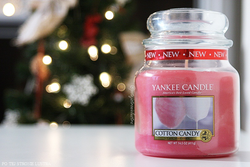 średnia świeca yankee candle cotton candy