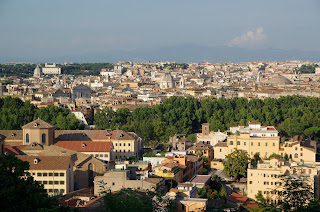 The view across from the Janiculum Hill