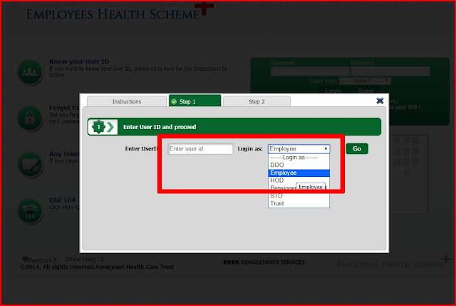 Employee Health card Registration Process