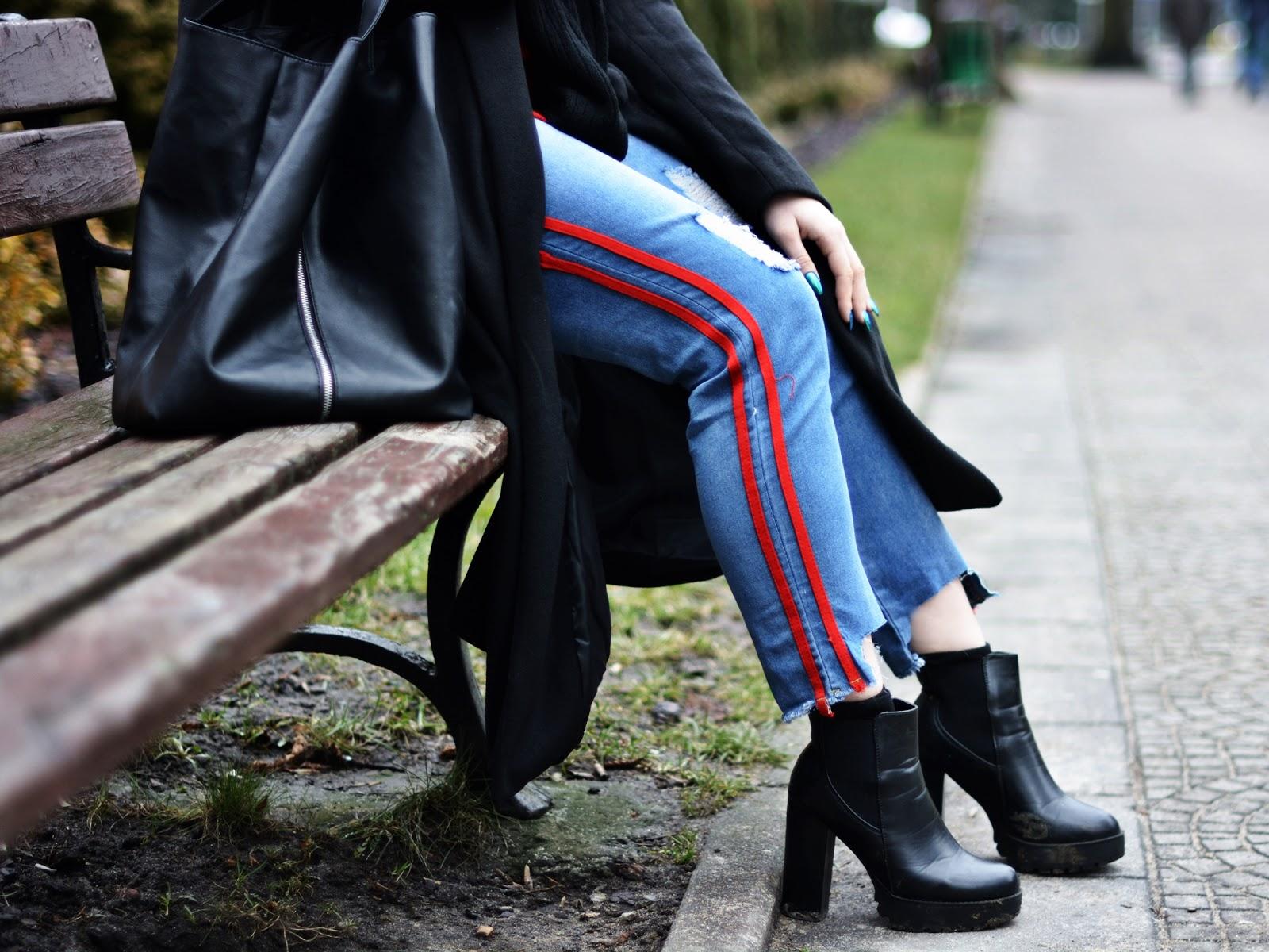 spodnie lampasy