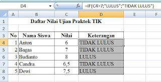 Contoh data if tunggal