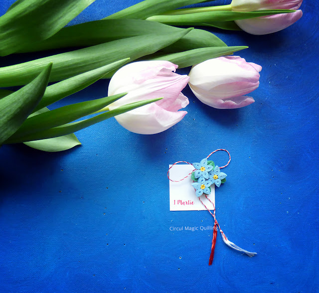 Circul Magic Quilling Martisoare 2016: Flori de Nu-Ma-Uita