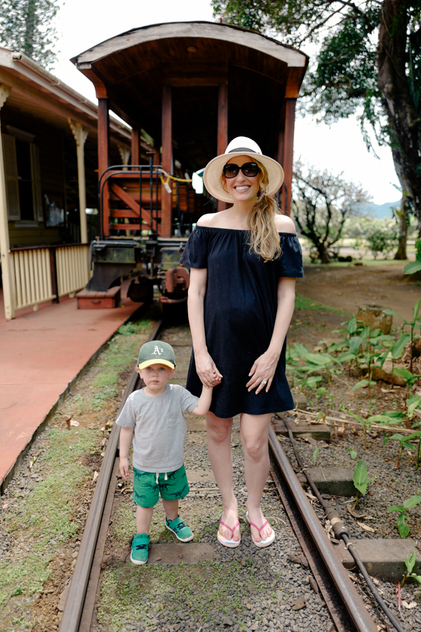 Visit to the Kauai Plantation Railway - perfect toddler activity for Kauai family vacations