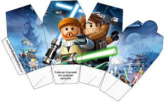 """Caja tipo """"de comida china""""de Star Wars Lego."""