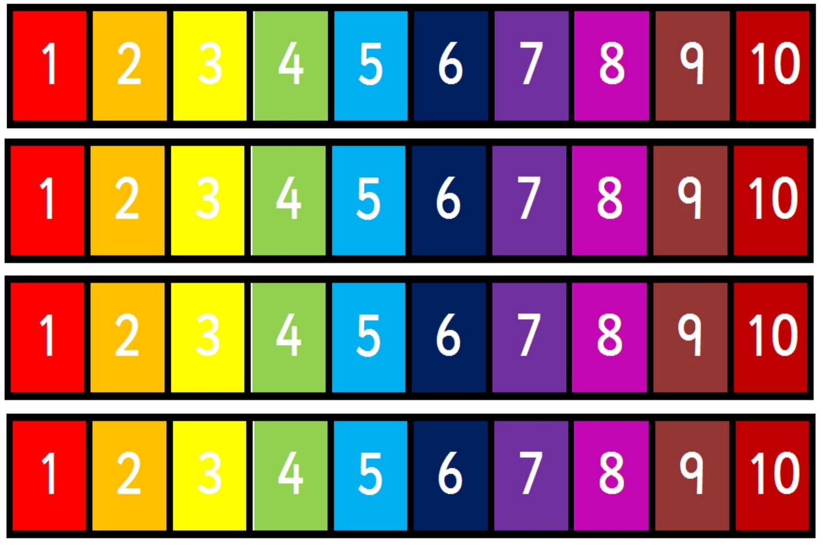 Debbie S Resource Cupboard Rainbow Numberlines