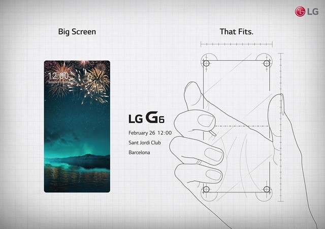 LG invites us to meet its LG G6 on February 26: 5.7 inch screen and minimal frames