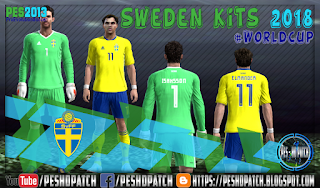 Sweden World Cup 2018 kits for PES 2013
