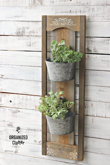 DIY Rustic Wood/Galvanized Wall Planters