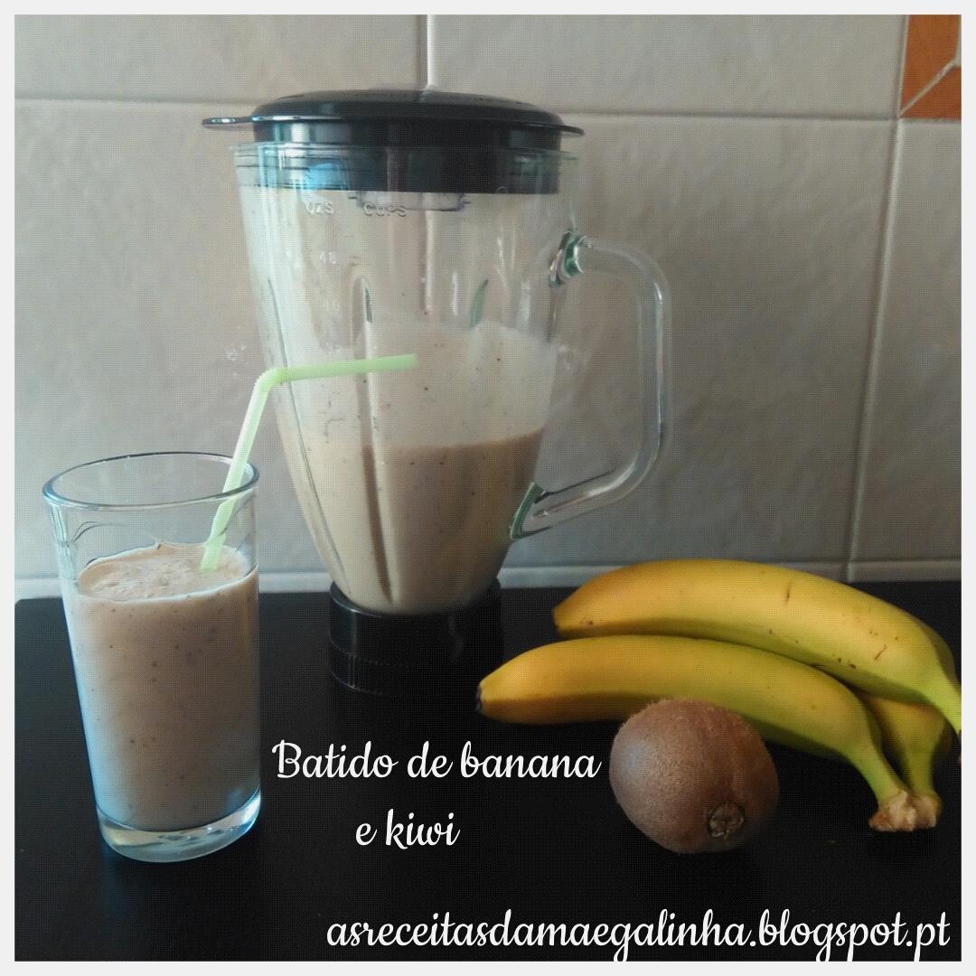 As receitas da m e galinha batido de banana e kiwi sem - Batidos de kiwi ...