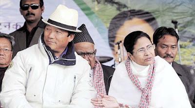Mamata Banerjee and Bimal Gurung