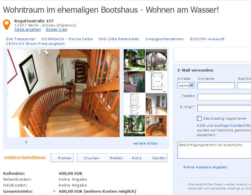 wohntraum im ehemaligen bootshaus wohnen am wasser regattastra e. Black Bedroom Furniture Sets. Home Design Ideas