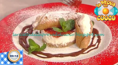 Cannolo cheese-cake ricetta Fava da Prova del Cuoco