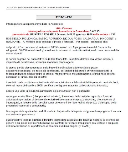 Su la testa casillo il piu grosso importatore di grano for Numero parlamentari italia