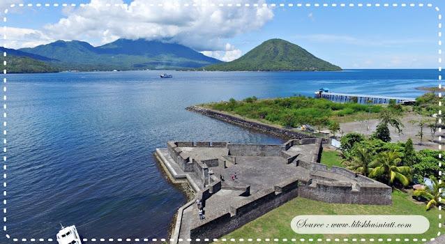 Benteng Kalamata yang ada di Ternate