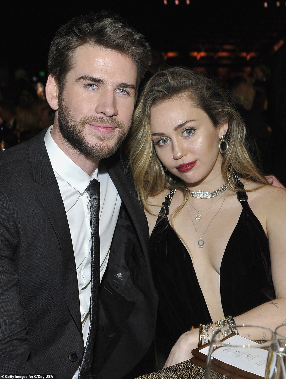 Liam Hemsworth and Miley Cyrus make first public appearance as newlyweds at G'Day USA Gala