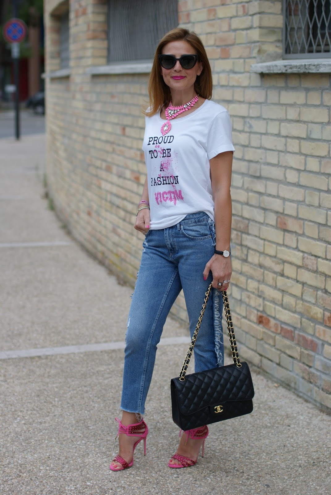 How to wear jeans with heels on Fashion and Cookies fashion blog, fashion blogger style