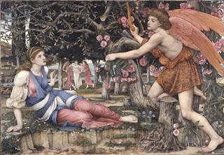 John Roddam Spencer Stanhope (1829-1908), L'Amour et la jeune fille, 1877. © Fine Arts museum de San Francisco