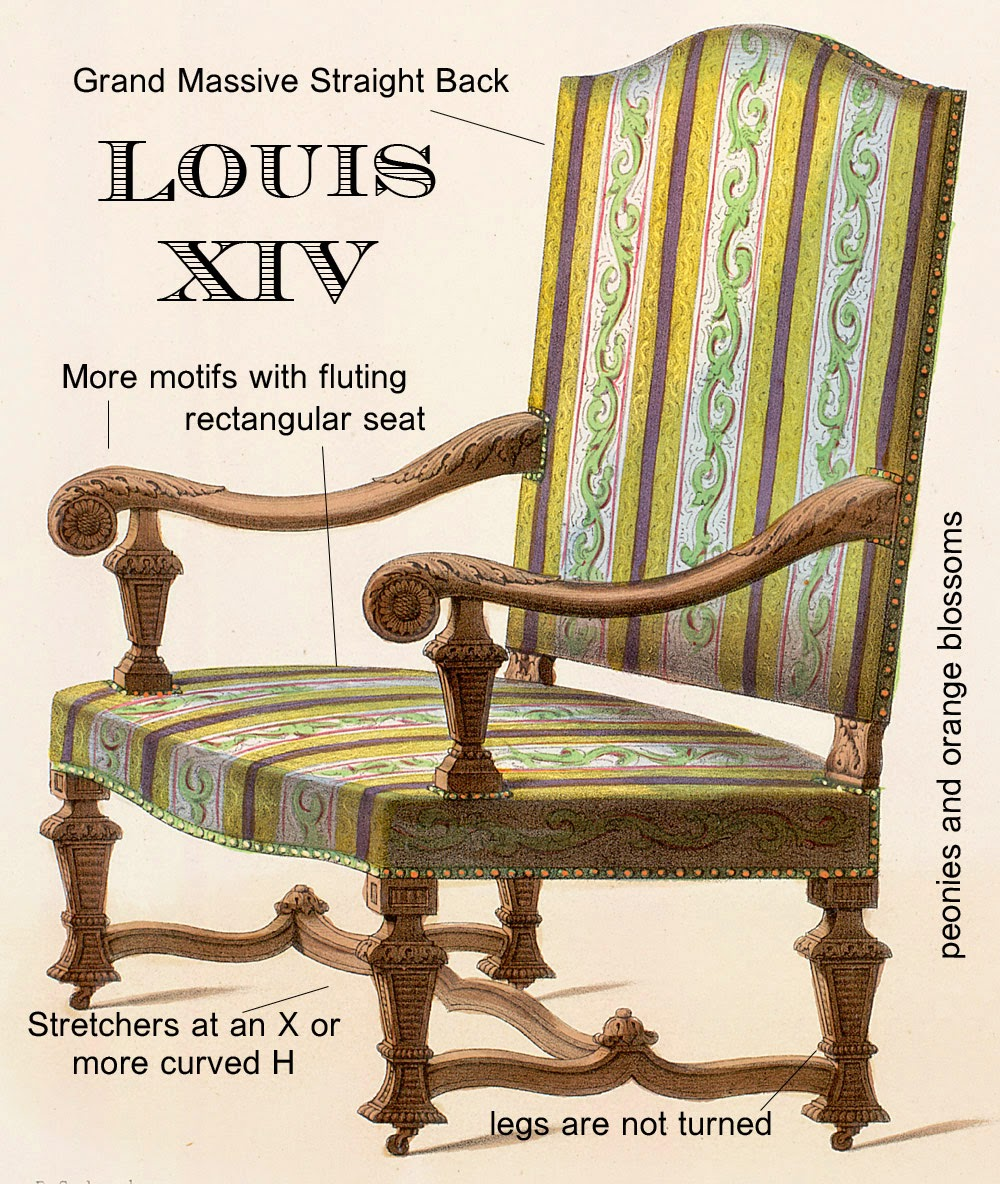 Peonies and orange blossoms ultimate guide french chairs - Silla luis xiv ...