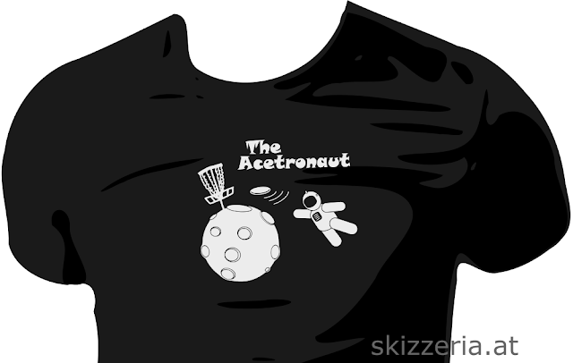 "Disc Golf Shirt ""Acetronaut"""