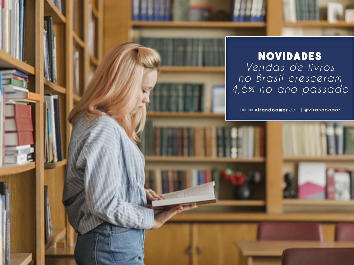 Vendas de livros no Brasil cresceram 4,6% no ano passado