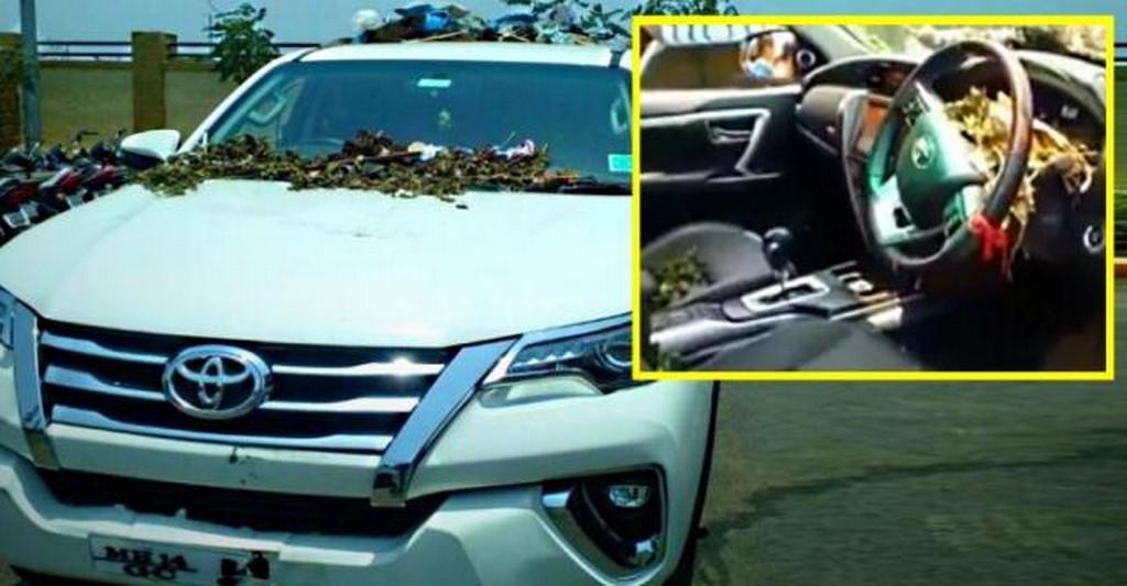 #Toyota कार के मालिक ने अपनी 39 लाख की गाड़ी को कचरे से भर दिया जानिए क्या है वजह