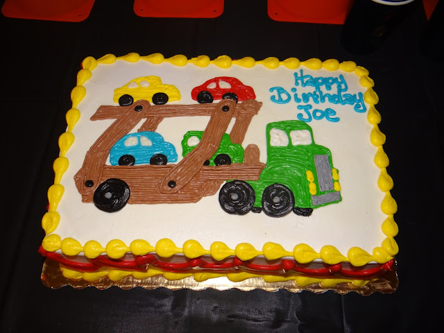 car carrier birthday cake
