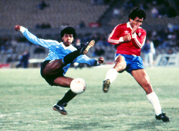Uruguay y Chile en Copa Juan Pinto Durán 1988, partido de vuelta