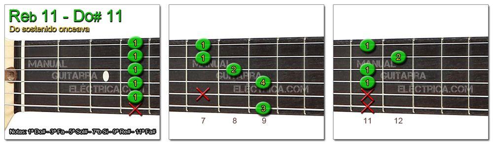 Acordes Guitarra Do Sostenido onceava