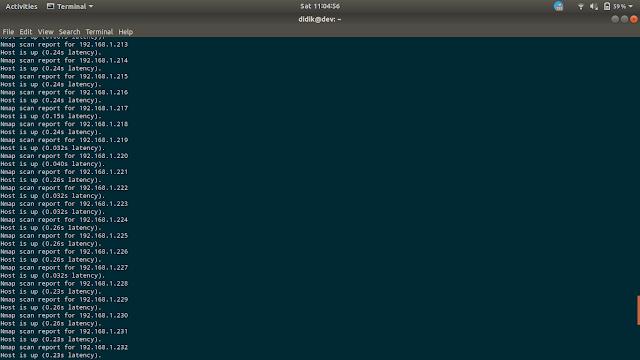 Scan Jaringan dan port Probing dengan nmap di Ubuntu
