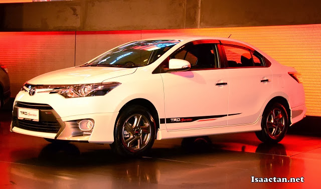 The new Vios 1.5 TRD Sportivo variant unveiled at the launch