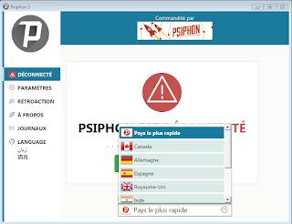 تحميل برنامج فك حجب المواقع Psiphon مجانا