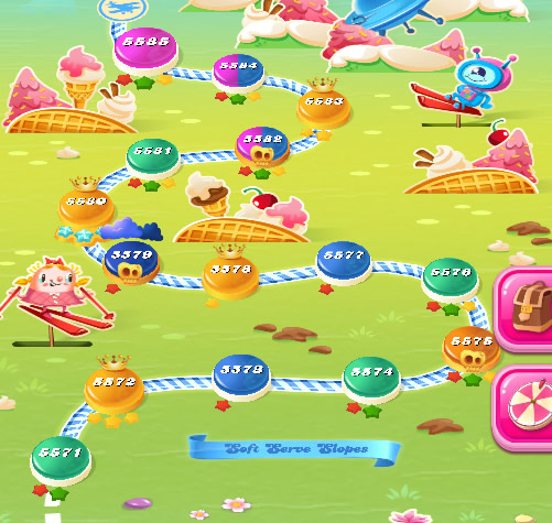 Candy Crush Saga level 5571-5585