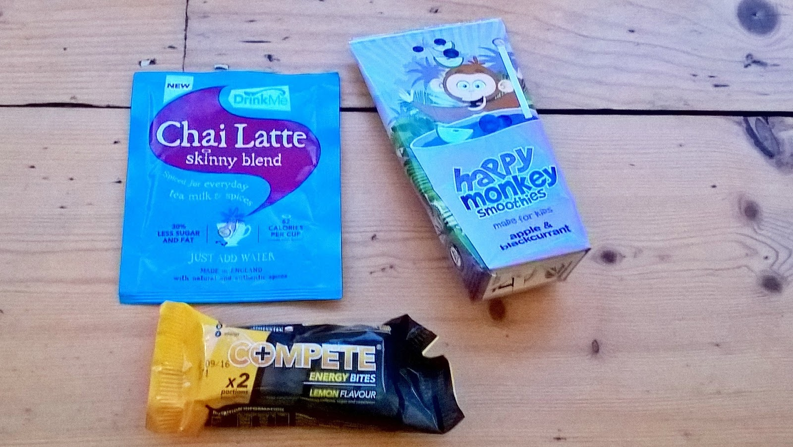 Complete Energy, Drink Me Chai & Happy Monkey Smoothie - Degustabox review - motherdistracted.co.uk
