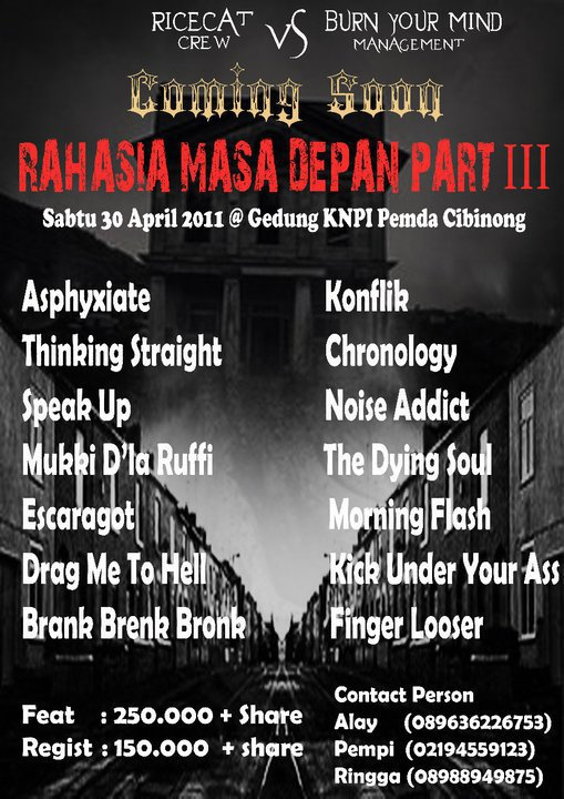 pict- Coming Soon Rahasia Masa Depan Part 3 (Indonesian Metal Fest)