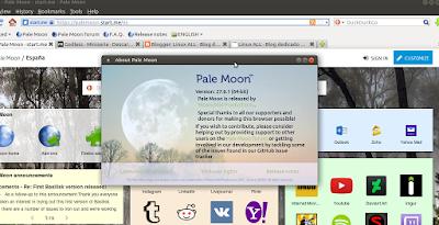 Pale Moon en Linux, otro excelente navegador web