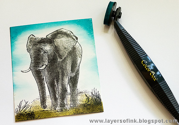 Layers of ink - Elephant Card Tutorial by Anna-Karin with Colorbox Stylus Tool