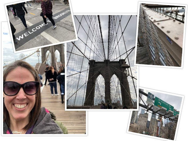 Collage of photos of the Brooklyn Bridge