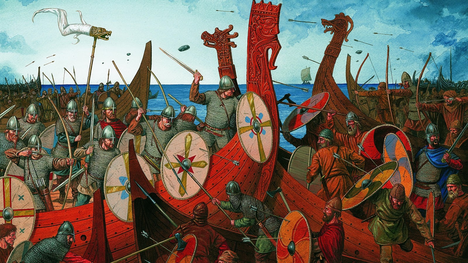 Viking History 871 Harsh Battle Between Danes And Wes
