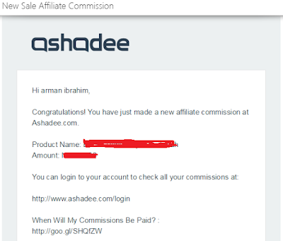 Komisen affiliate ashadee dan kepentingan penguasaan keyword untuk sale berulan