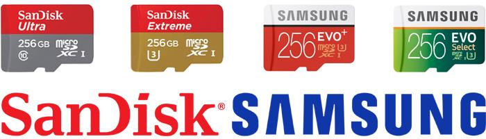 「マイクロSDカード256GB」の選び方をアドバイス。全4製品の違いを比較