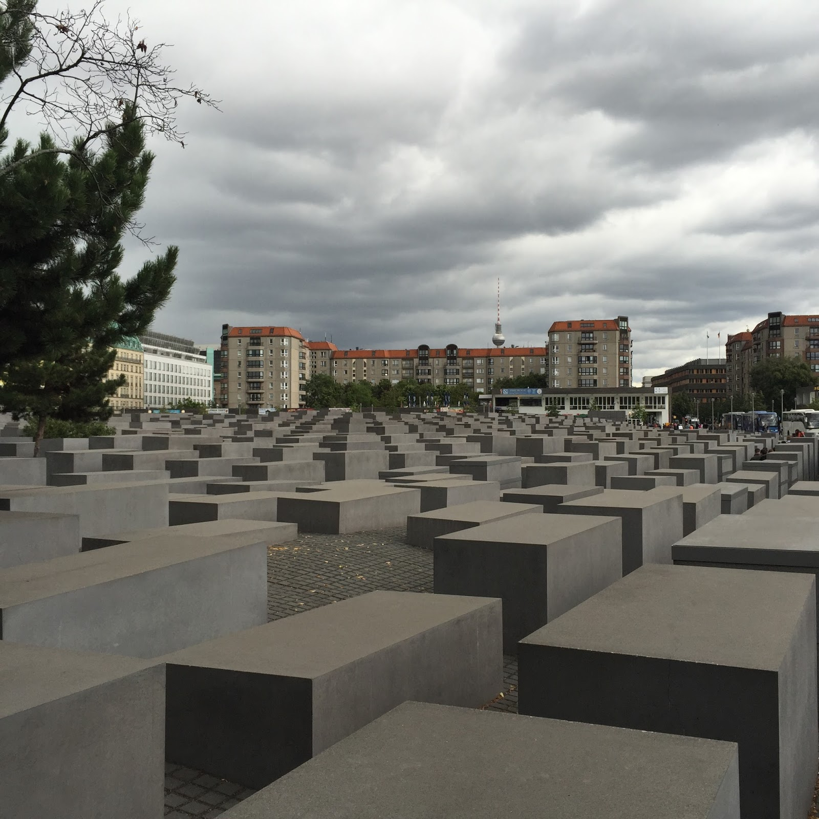 Jewish Memorial and TV tower, Berlin