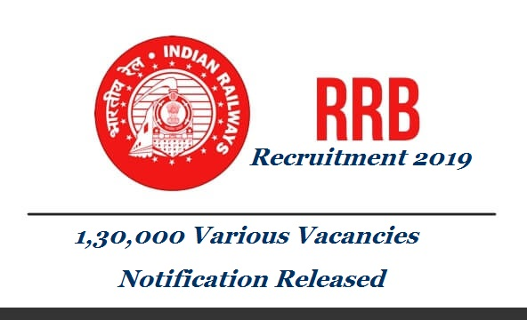 "Railway Recruitment Board has released a huge Recruitment Notificaiton with 130000 vacancies all over India in different categories of Indian Railways. Railway Recruitment Board is releases the recruitment notification for 1.3 lakh posts in the month of February 2019. The notification will be available on the official website from February 23, 2019. ""Preparative works for the notification is taking a lot of time. Right now, we have to calculate exact vacancies in various departments and also have to apply the reservations rules, especially the newly announced EWS reservation"", said sources. rrb-130000-vacancies-recruitment-notification-details"
