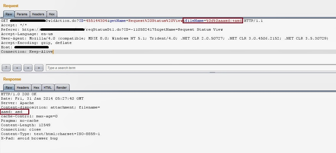 Cross Site Scripting Filter Bypassing using Header Injection (CRLF)
