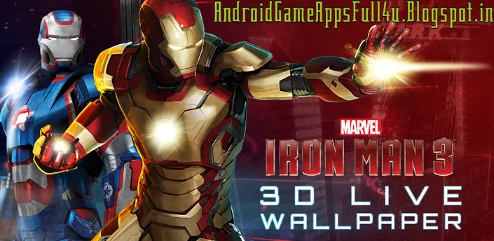 Iron Man 3D V.1.0 Premium_Live Wallpaper+Keyboard Skin